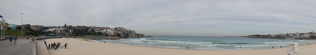 Panoramic of Bondi Beach
