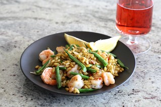 Warm Shrimp Salad with Kamut, Red Chile, and Tarragon | by esimpraim