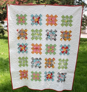 Flea Market Fancy Granny Squares Quilt Finished | by Erin @ Why Not Sew? Quilts