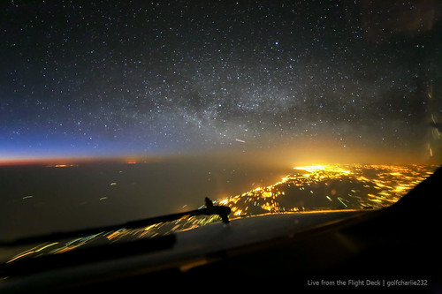 Algeria night sky - From the Flight Deck