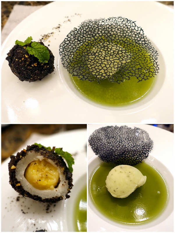 Conrad Manila's China Blue by Jereme Leung- Lime Jelly with Mojito Sorbet and Oreo Banana Mochi