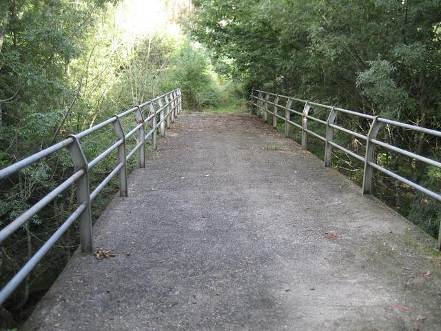 Puente en el ruta dos ríos de Vilacoba e San Xusto