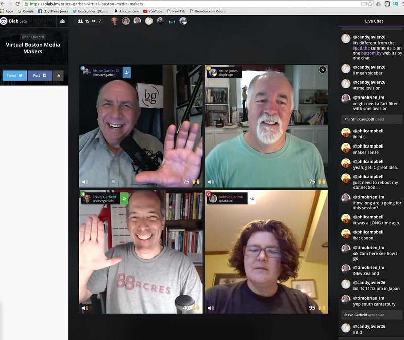 Virtual Boston Media Makers blab