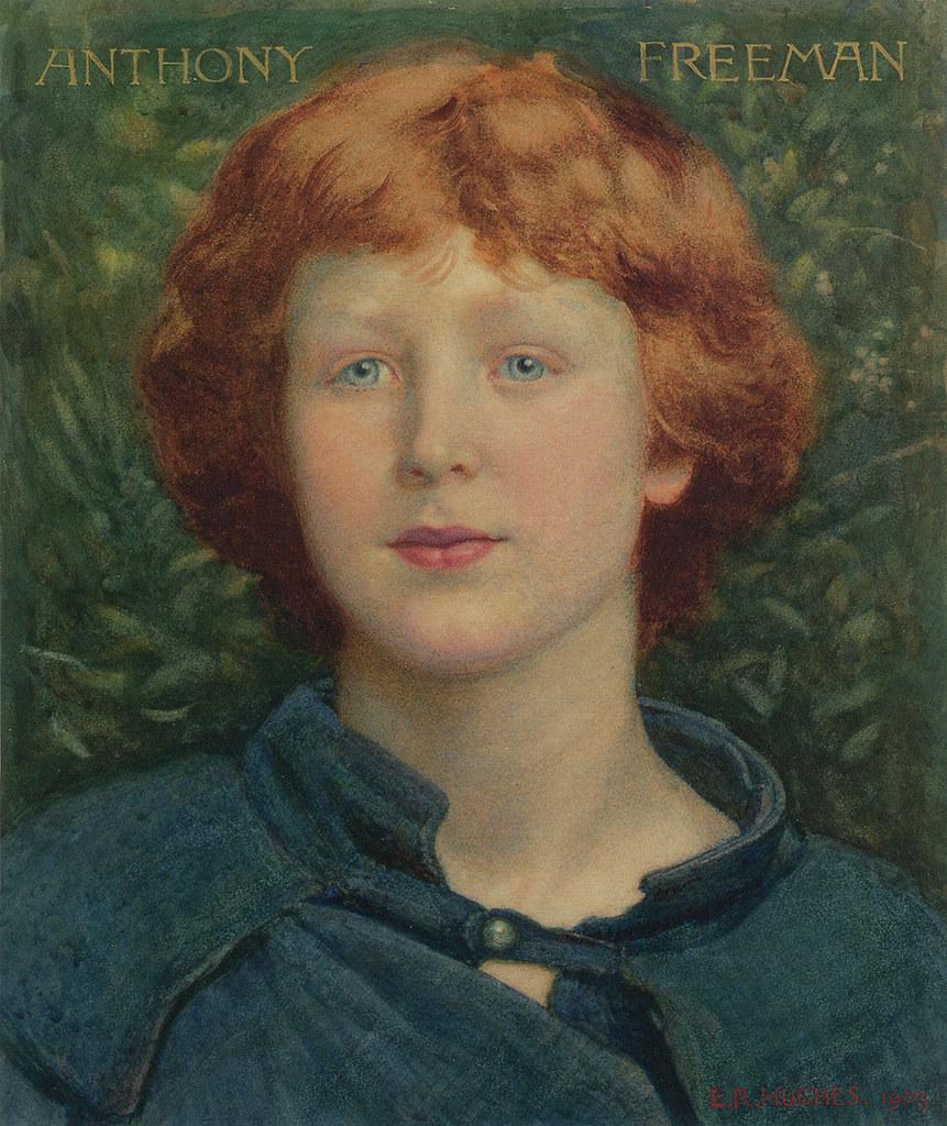 "<b>...</b> <b>Edward Robert</b> Hughes (185 -1914), ""Portrait Of Anthony Freeman"" | - 7735999714_295a9f3f88_b"