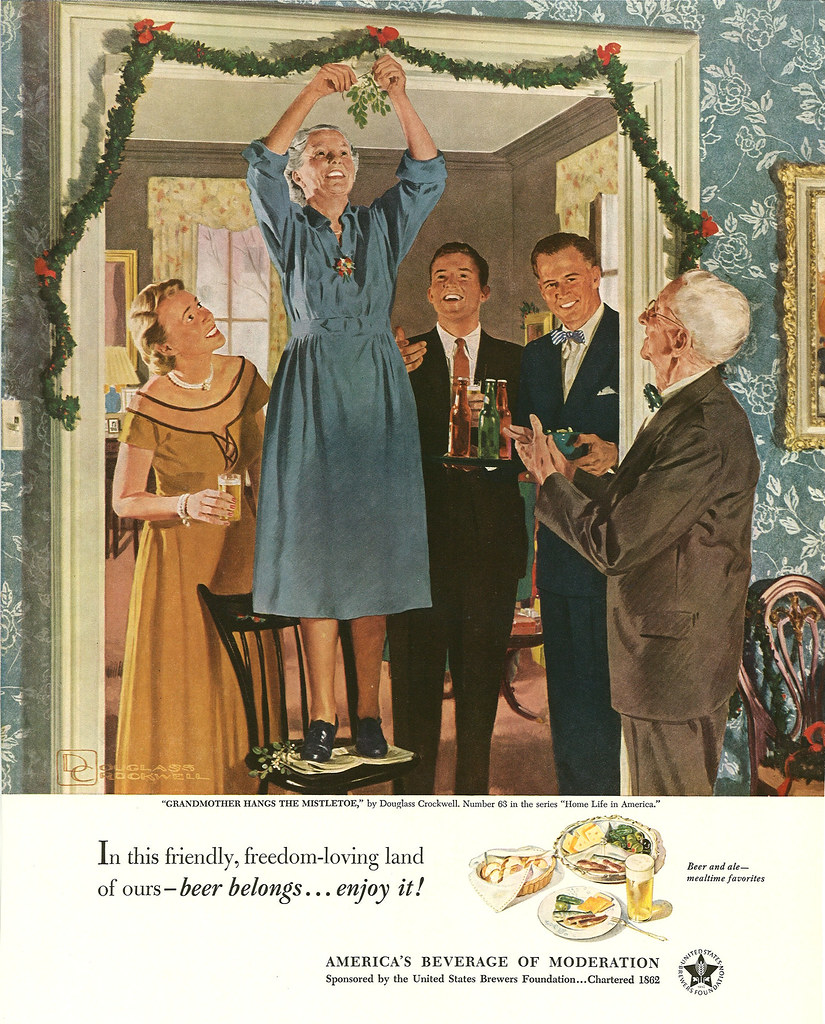 063. Grandmother Hangs the Mistletoe by Douglass Crockwell, 1951