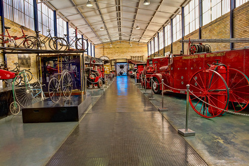 Fire engines and bicycle