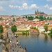 Prague : View from Charles bridge gothic tower - 4/4