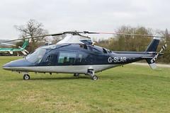 G-SLAR - 1991 build Agusta A109C, at the 2012 Cheltenham Festival