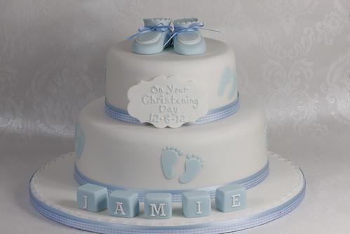 Baby Feet Christening Cake Flickr - Photo Sharing!