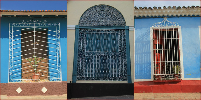 Decorative window grates, Trinidad