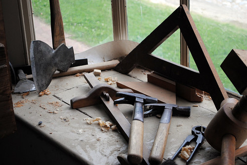 WB Joiner tools in window | by W. H. Merritt
