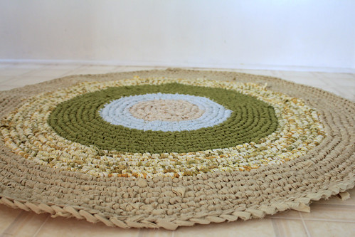 rag strip crocheted rug | by so NOT cool