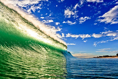 Green Wave Blue Sky by FotoByKiwi