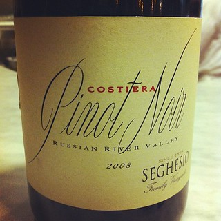 Night wine: 2008 Seghesio Costiera Pinot Noir | by optionthis
