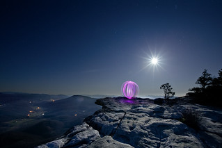 Adventure Photography - Light Painting Orb on Mcafees Knob | by curtisWarwick