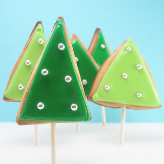 Christmas tree cookie forest 1 | by thedecoratedcookie