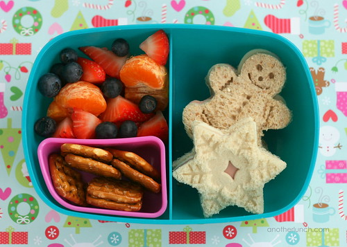 gingerbread snowflake bento | by anotherlunch.com