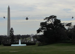 Marine 1 approaching the White House | by WilliamKoenig