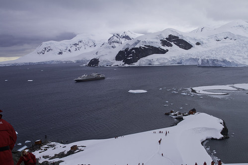 View of Paradise Bay in Antarctica from the top of the hill. | by suraark