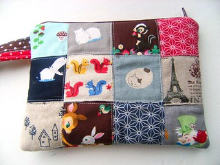 Patchwork Zipper Pouch 3 | by Clara Clips