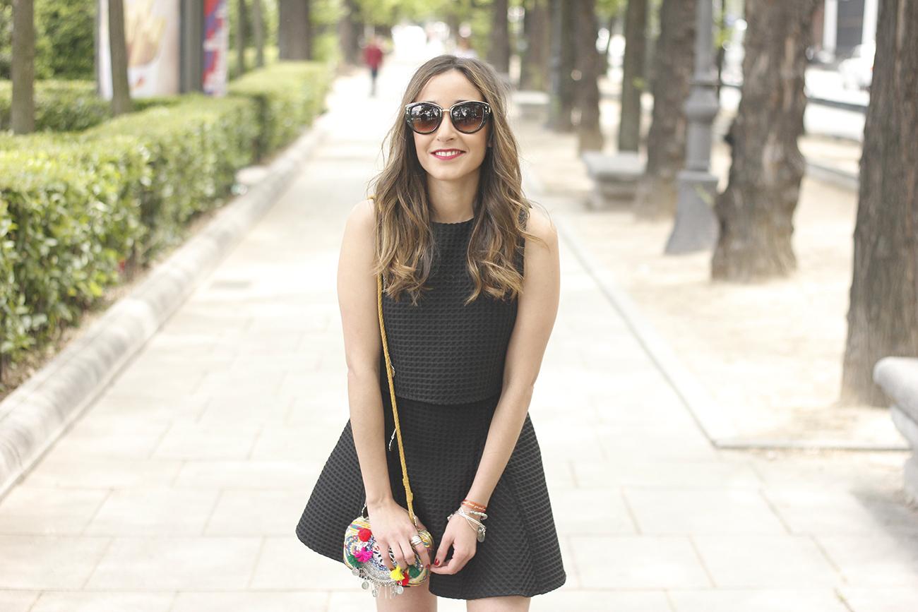 Little black dress maje carolina herrera sandals bag outfit fashion style summer sunnies14