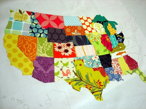 fabric map in progress | by jenn of all trades