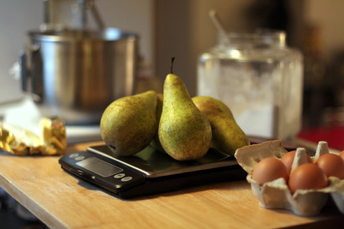 weighing pears | by David Lebovitz