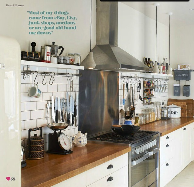 Sarah Ellison / Olly Gordon / Heart Home Magazine {white, wood and - Pics Of Rustic Industrial Kitchen