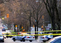 Latest real crime scene in Fairview Slopes neighbourhood of Vancouver by susan gittins