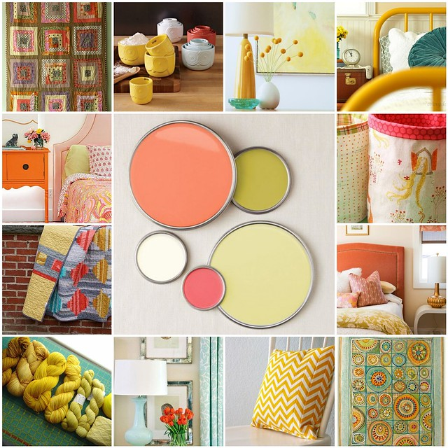 color inspiration -- citrus and melon