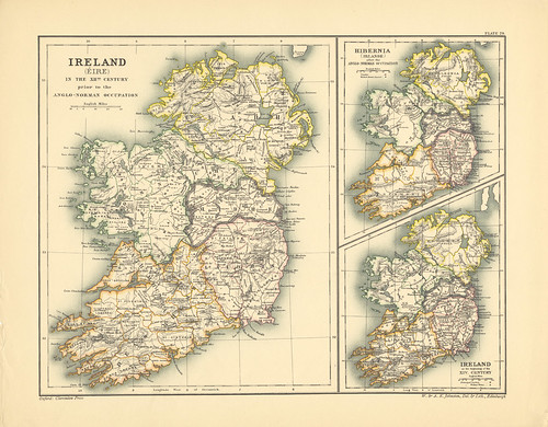 Section XXIX Map page of Early Ireland from Historical atlas of modern Europe from the decline of the Roman empire : comprising also maps of parts of Asia and of the New world | by uconnlibrariesmagic