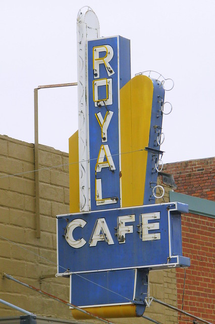 Royal Cafe neon sign - Whiteville, TN