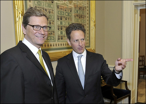 Secretary Geithner Meets with German Foreign Minister Guido Westerwelle | by U.S. Department of the Treasury