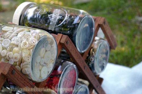 Wine Rack Button Storage | by The Quilted Turtle