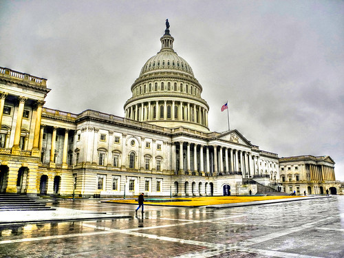 US Capitol on Winter Rainy Day  - East Entrance - Washington DC | by mbell1975