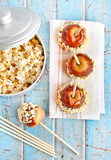 Salted Caramel Apples with Popcorn | by raspberri cupcakes