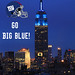 Empire State Building suited up in Blue for the NY Giants Superbowl game