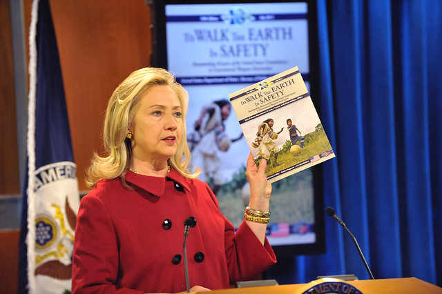 "Secretary Clinton Delivers Remarks at Release of 10th Edition of ""To Walk the Earth in Safety"" Report"