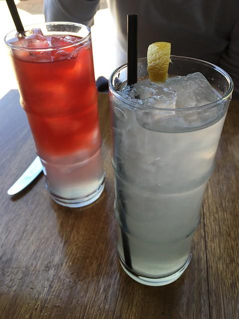 Hibiscus pomegranate soda & garden lavender lemonade- Barndiva