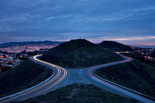 Light Trails on Twin Peaks, San Francisco | by danielpivnick