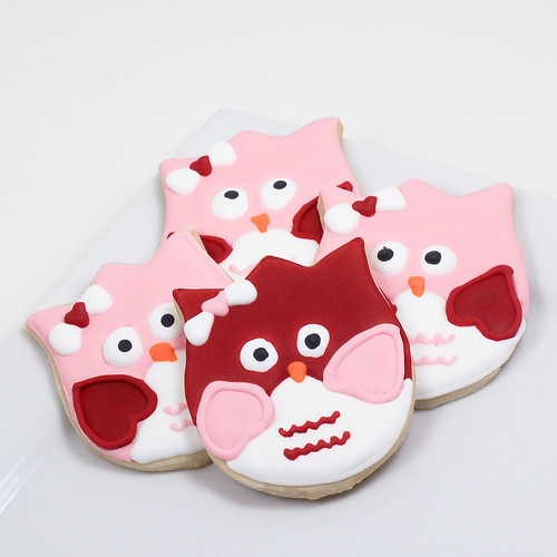 Valentine's owls | by Baking in Heels
