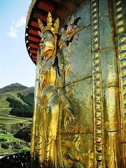 A golden view across the Gansu countryside / Xiahe / China by macchi