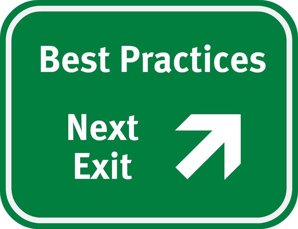 Best practices, next exit sign