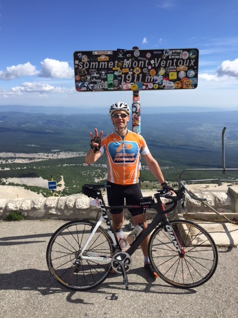 Clive on the Ventoux