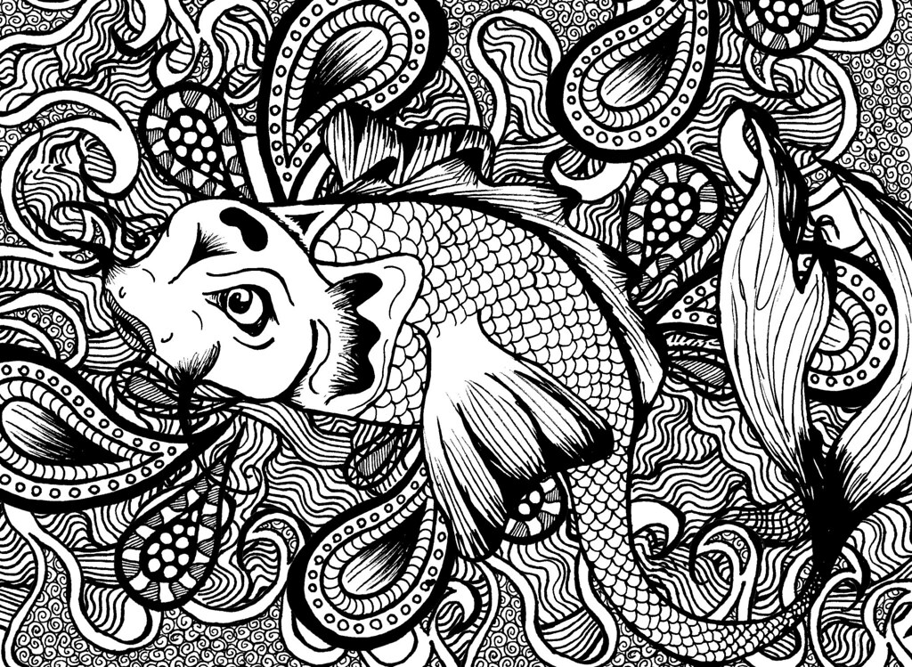 Fish Pattern Drawing Japanese Fish Pattern | by