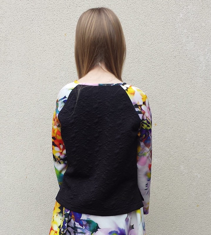 top based on BurdaStyle no 144 10/2014 in remnant knits