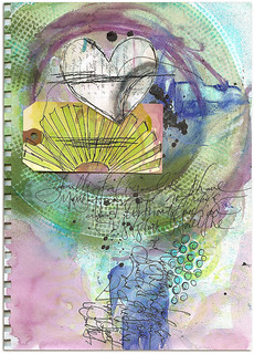 HAPPY DIRECTIONS art journal page | by Roben-Marie