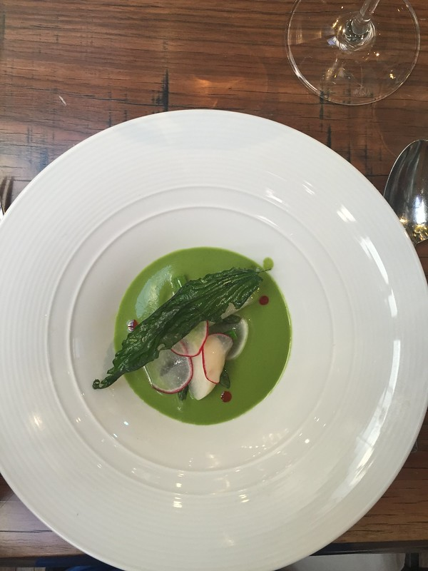 Green gazpacho from the Michael Anthony Synergies dinner at Spoon and Stable