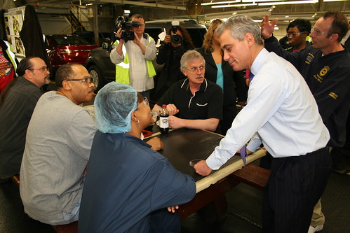 Rahm Emanuel at Ford's Chicago Assembly Plant | by alimstone