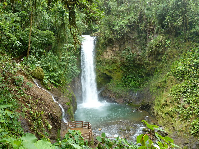 Waterfall at La Paz Garden, Costa Rica